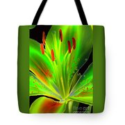 Lime Twist Tote Bag