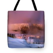 Limestone Artwork Minerva Springs Yellowstone National Park Tote Bag