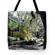 Limestone Home In The Trees Tote Bag