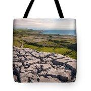 Limestone Landscape Of The Burren Ireland Tote Bag