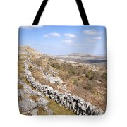 Limestone Pavements And Dry-stone Walls, Fahee North, Burren, County Clare, Ireland Tote Bag