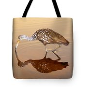 Limpkin In The Mirror Tote Bag