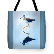 Lesser Yellow Legs Water Shadow Tote Bag