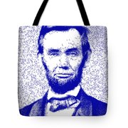 Lincoln Abstract Blue Tote Bag