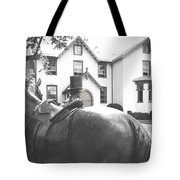 Lincoln Arrives At The Cottage Tote Bag