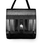 Lincoln At Night Bw Tote Bag