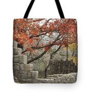 Lincoln Bridge In Fall Tote Bag