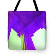 Lincoln Column Purple Tote Bag
