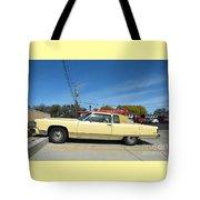 Lincoln Continental At Brint's Diner Tote Bag