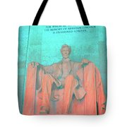 Lincoln In Blue Tote Bag