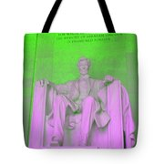 Lincoln In Green Tote Bag