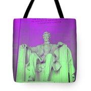Lincoln In Purple Tote Bag