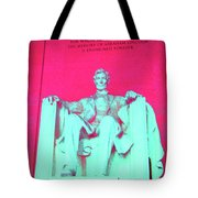 Lincoln In Red Tote Bag