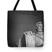 Lincoln Memorial In Washington Dc President Tote Bag
