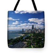 Lincoln Park And Diversey Harbor Tote Bag