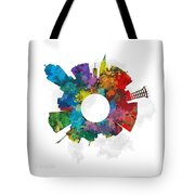 Lincoln Small World Cityscape Skyline Abstract Tote Bag