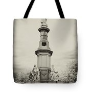 Lincolns Gettysburg Address Site - Toned Tote Bag