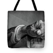 Lincoln's Left Hand B-w Tote Bag