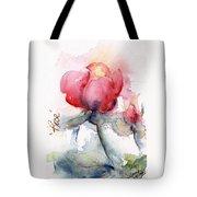 Linda's Rose Watercolor Tote Bag