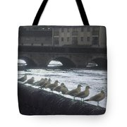Line Of Birds Tote Bag