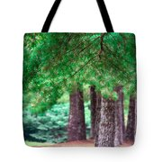 Line Of Pines Tote Bag