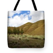 Line Of Trees At Painted Hills Tote Bag