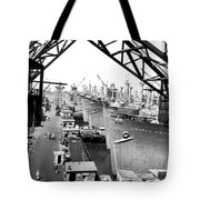 Line Of Victory Ships Tote Bag