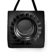Line Up Black And White Tote Bag