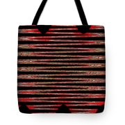 Linear Lesson In Black And Red Tote Bag