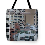 Lines And Bendy Windows Tote Bag
