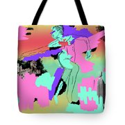 Lines And Color Tote Bag