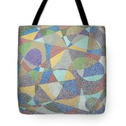 Lines And Curves Tote Bag