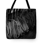 Lines Bw Tote Bag