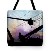 Lines Down Getting Late Tote Bag