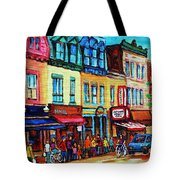 Lineup For Smoked Meat Sandwiches Tote Bag
