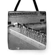 Lineup Of Ncaa Men Swimmers Tote Bag