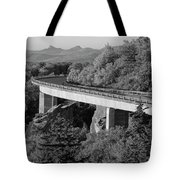 Linn Cove Viaduct Black And White Tote Bag