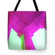 Linocln Column Pink Tote Bag