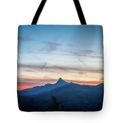 Linville Gorge Wilderness Mountains At Sunset Tote Bag