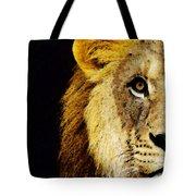 Lion Art - Face Off Tote Bag