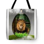 Lion Art Tote Bag
