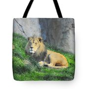Lion At Leisure Tote Bag