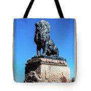 Lion At San Xavier Mission - Tucson Arizona Tote Bag