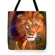 Lion At Sunset Tote Bag