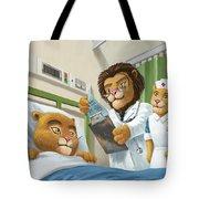 Lion Cub In Hospital Tote Bag