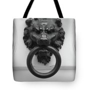 Lion Door Knocker In Brussels Tote Bag