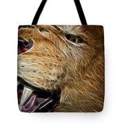 Lion Fractal Tote Bag