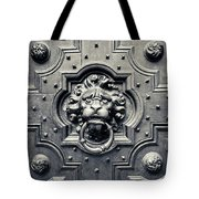 Lion Head Door Knocker Tote Bag by Adam Romanowicz