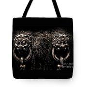 Lion Head Handle Tote Bag