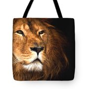 Lion Head Oil Painting Tote Bag